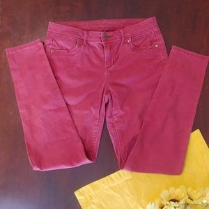Simply Vera Vera Wang Skinny Pink Faded Red Jeans